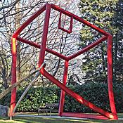 Über-raschung, Construction steel and stainless steel, height 400cm, 2010, Thermenpark, Meran